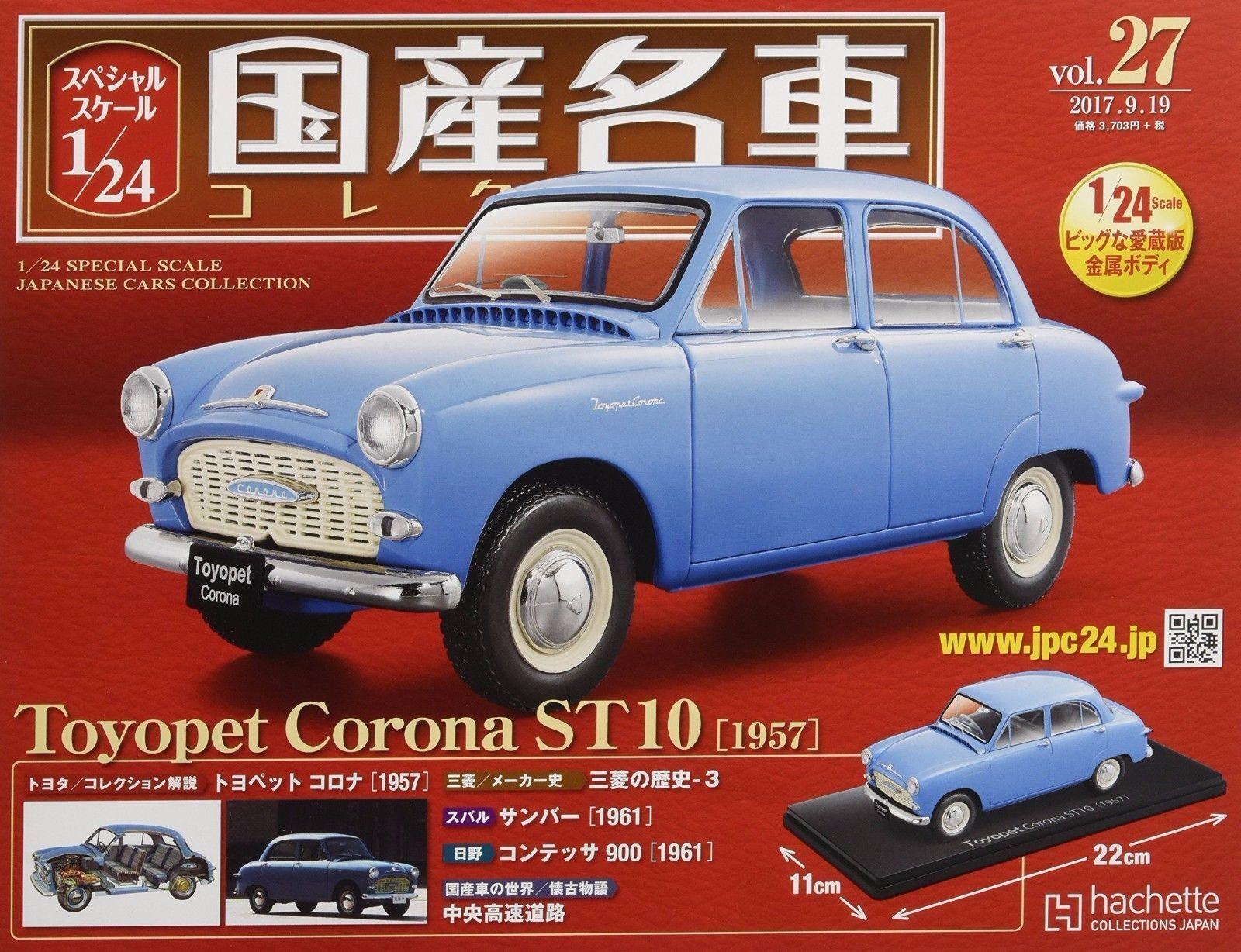 Japonais célèbre voiture collection vol.27 TOYOPET Corna ST10 Magazine