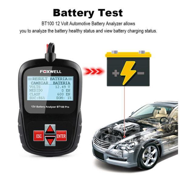 12v Car Battery Load Voltage Tester 100 1100cca Universal Diagnostic