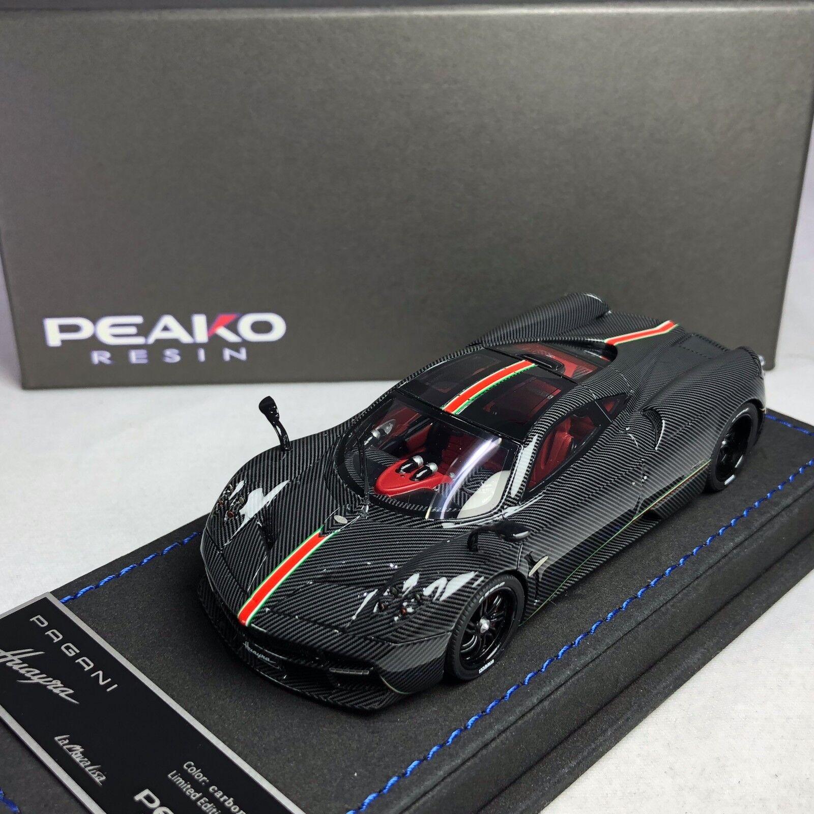 1/43 Peako Pagani Huayra la Monza Lisa todo de carbono Ltd 50 PC 30306
