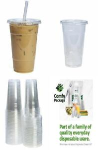 50-Sets-24-oz-Plastic-Cups-With-Flat-Lids
