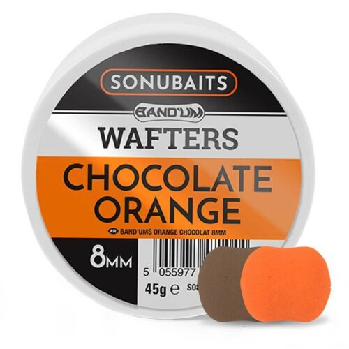 Sonubaits Chocolate Orange Band/'um Wafters All Sizes Fishing Hook Bait