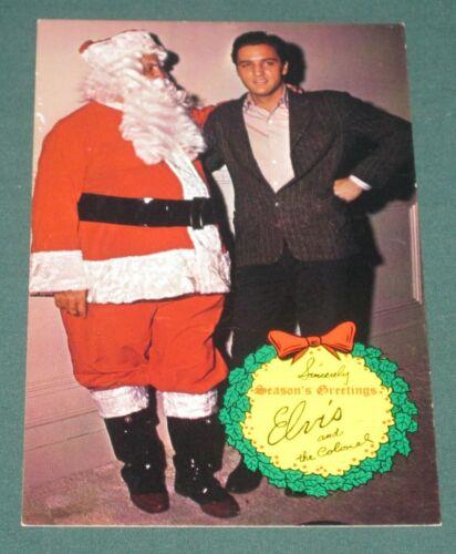 Elvis Presley RCA Seasons Greetings Postcard Colonel 1969 NM