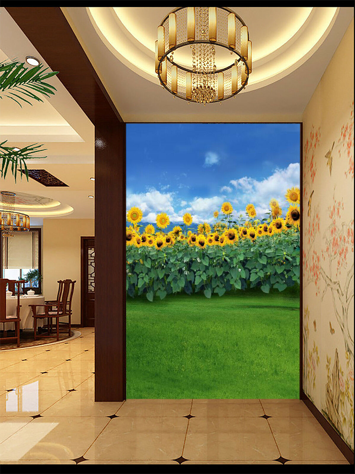 3D Sunflowers 42 Wallpaper Murals Wall Print Wallpaper Mural AJ WALL AU Lemon