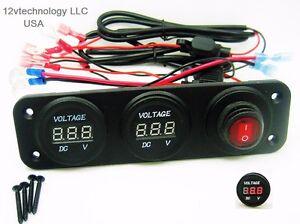 Cool Two 12V Battery Bank Voltmeter Monitor Rv Marine House Starting Wiring Digital Resources Honesemecshebarightsorg
