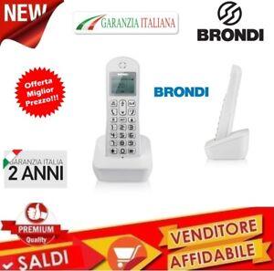 TELEFONO-CORDLESS-MONO-ECO-DECT-GAP-DISPLAY-RUBRICA-BRONDI-MARIOT-NUOVO-GARANZIA