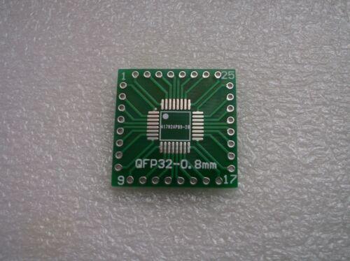 FR4-Industriequalität 0,8mm // 0,65mm 6x SMD Adapterplatine QFP32 QFN32