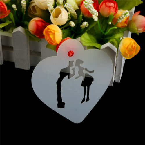 Lovely Wedding Decoration Cake Stencil Couple Lover Cookie Stencil Cake Tool LE