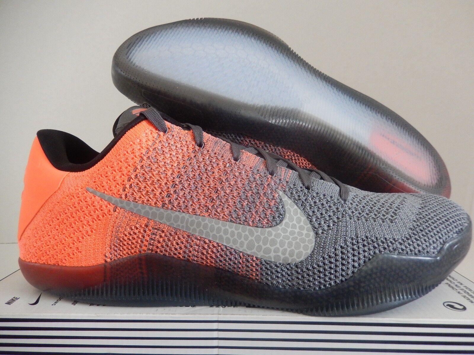 Nike kobe xi 11 elite flyknit pasqua bassa grey-mango sz 14 [822675-078]