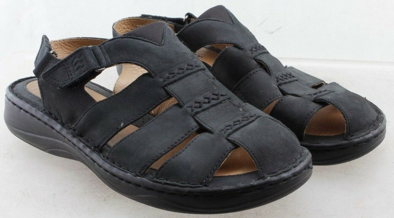 Romika Women's Black Leather Sandals EUR Size 40 W US 9 UK 6.5