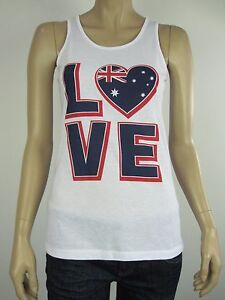 Australia-Day-Ladies-Love-Australia-Singlet-Tank-Top-6-10-12-14-16-18-White
