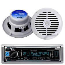 "Kenwood KMR-D368 Marine Boat CD MP3 Radio USB iPod iPhone Player w/6.5"" Speakers"