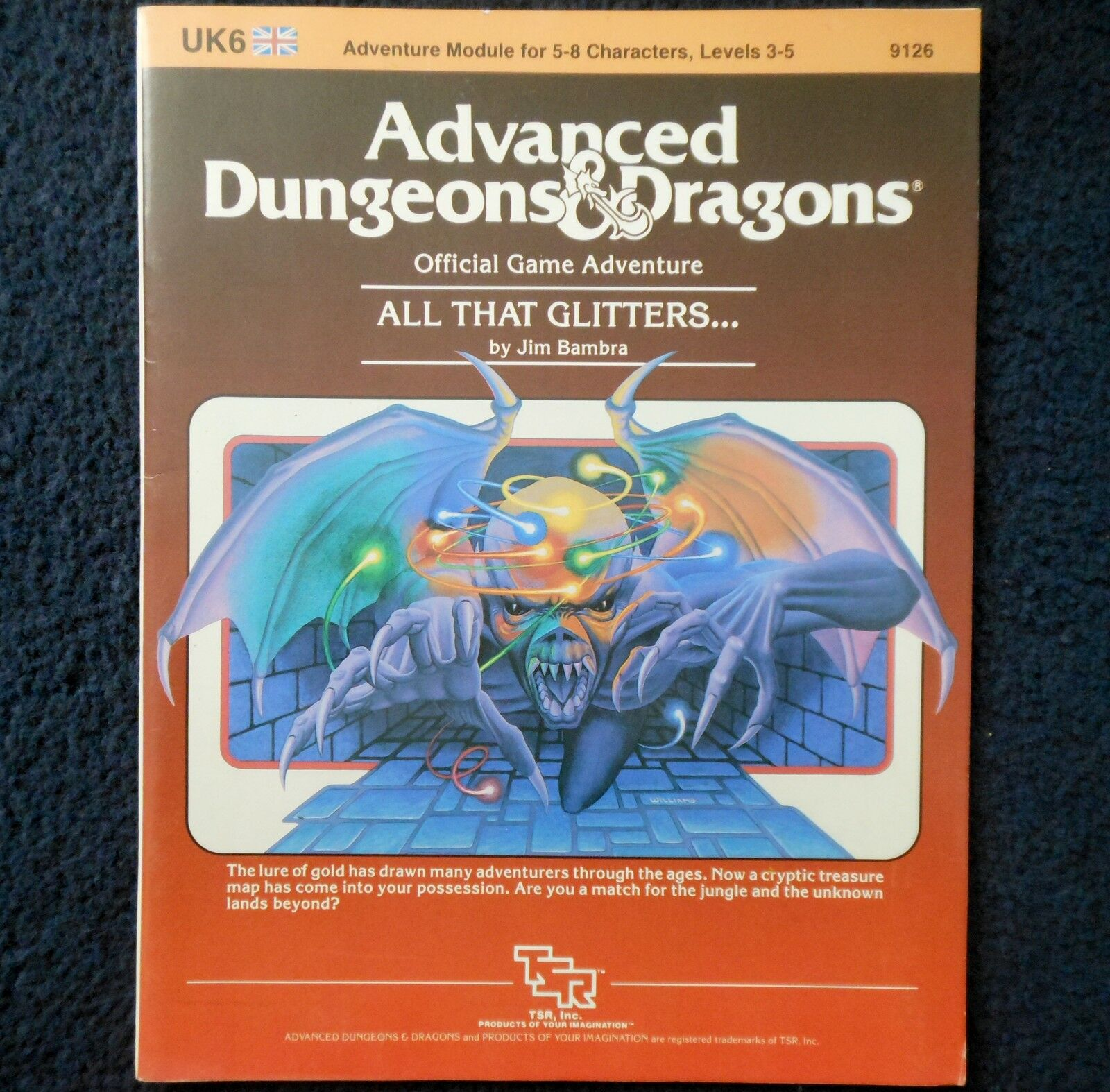 UK6 All That Glitters... Advanced Dungeons & Dragons Adventure Module D&D 9126