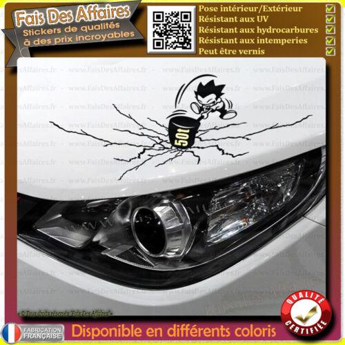 Stickers Autocollant humour réparation d/'éraflure cache rayure bosse ou tache