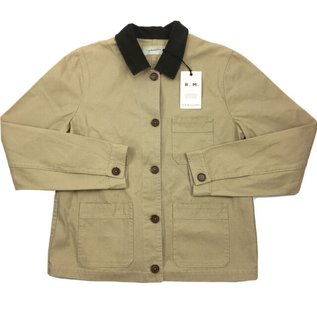RM Williams Lady Drover Chore Jacket Beige Size 14