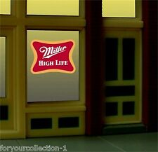 Miller's Miller High Life Animated Neon Window Sign   #7777 Miller Engineering