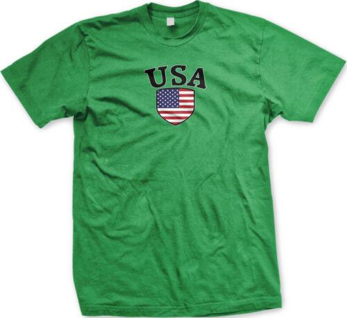United States Flag Crest USA American National Soccer Pride Mens T-shirt