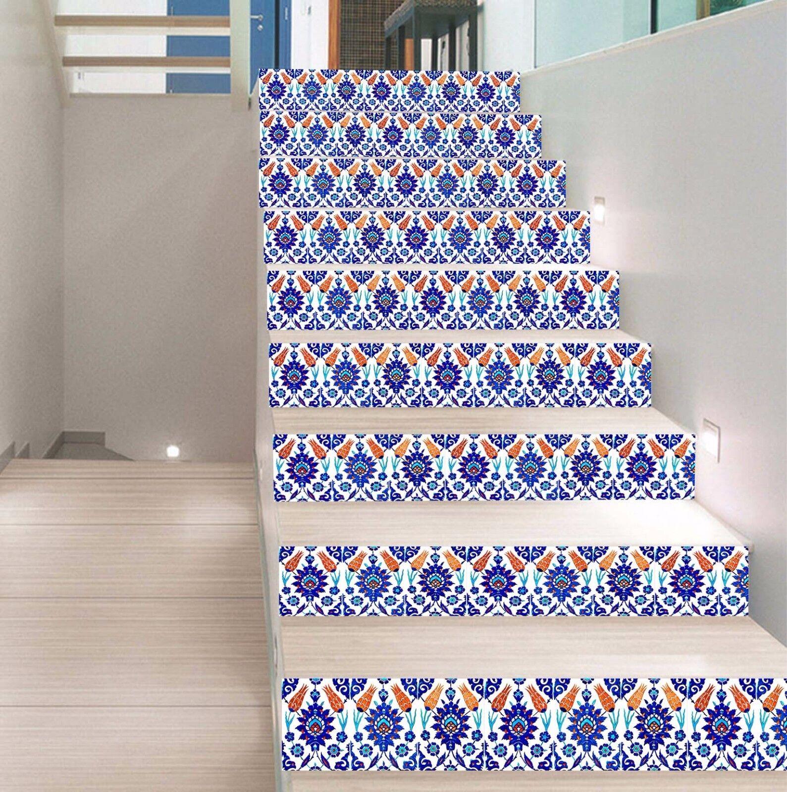 3D Muster 46 Stair Risers Dekoration Fototapete Vinyl Aufkleber Tapete DE Lemon