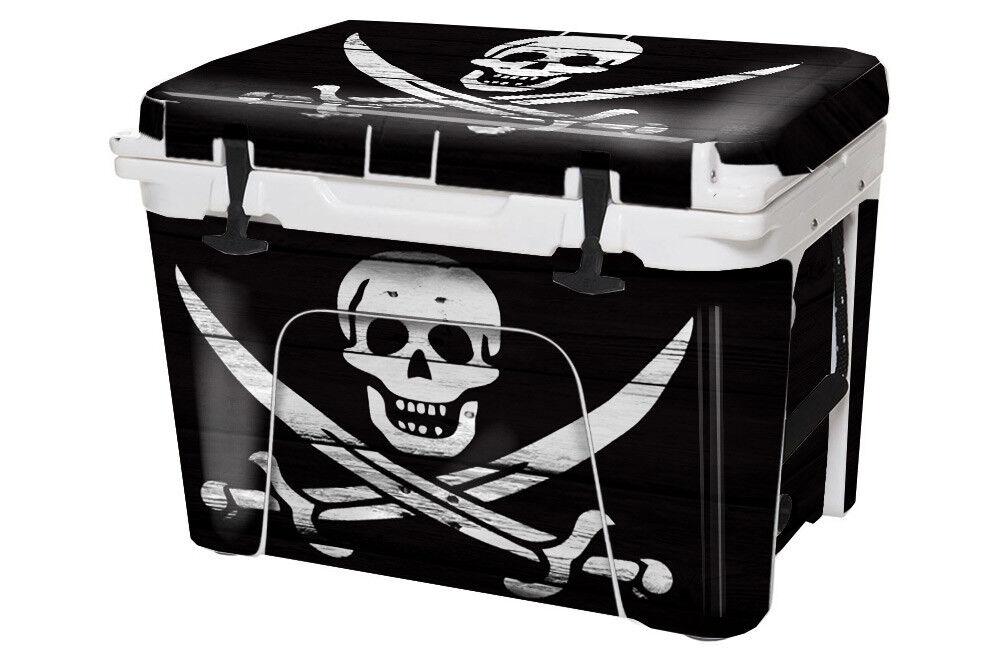 USATuff Custom Custom USATuff Cooler Decal Wrap fits YETI Tundra 105qt FULL Pirate Flag WD c868a2