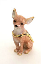 Starlight Chihuahua Dog Trinket / Jewelry Box Pewter Bejeweled Kingspoint