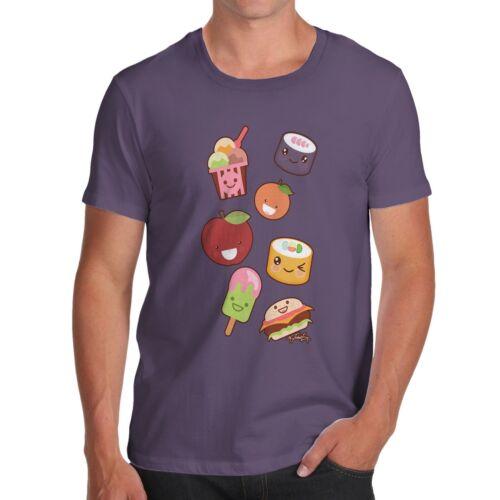 Twisted Envy Men/'s Kawaii Japanese Sweets /& Treats Emoji T-Shirt