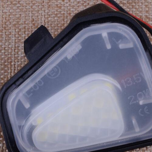 2pcs LED Bulb Side Mirror Puddle Lights No Error For VW CC EOS Passat Scirocco