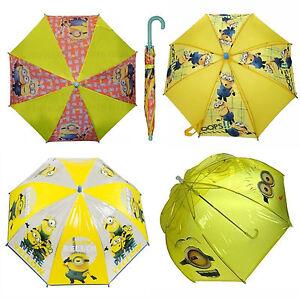 Boy/'s Girls Minions Despicable Me 2 Rain Umbrella Brolly