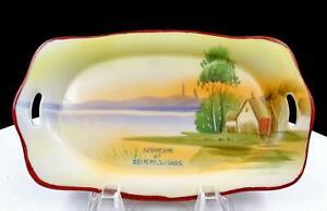 Nippon-Japon-Sunrise-Maison-sur-le-Lake-Beverly-Masse-Souvenir-17-5cm-Plateau