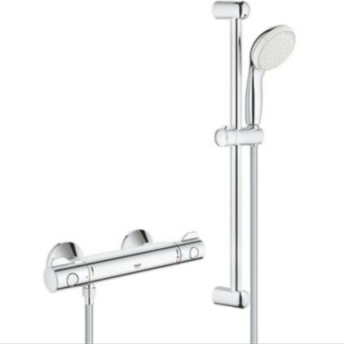 34565 001 GROHE Grohtherm 800 Thermostatic Bar Shower 1//2/'/' c//w Kit Chrome
