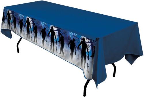 Halloween Party Decor Table Cover Cloth Zombie Skeleton Bone Appetit