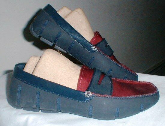 MEN'S SWIMS WASHABLE WET   DRY PENNY LOAFER SHOES SIZE 8 DESIGNED IN NORWAY