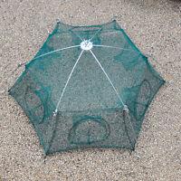 6 Sides Folded Fishing Net Cast Mesh Trap Cage Dip Catch Shrimp Crab Baits Net