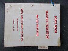 Massey Ferguson 135 Tractor Parts Book