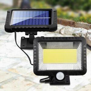 Lampe-Solaire-COB-100-LED-Capteur-de-Mouvement-de-L-039-eNergie-Solaire-Jardin-S6A2