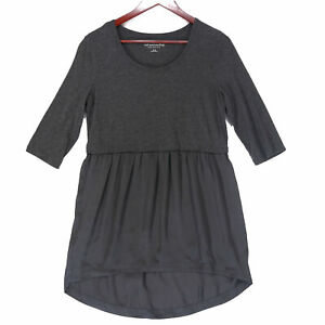 Soft Surroundings Women's Gray 3/4 Sleeve Tunic Top - Size Small