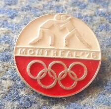 NOC POLAND OLYMPIC MONTREAL 1976 WRESTLING PIN BADGE