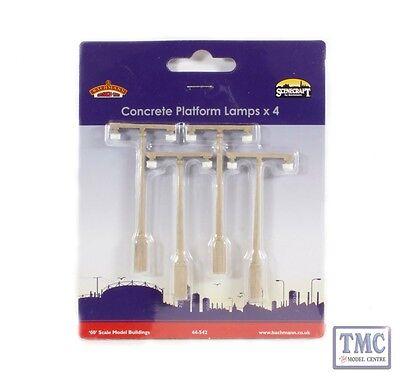 44-542 Bachmann Scenecraft OO//HO Gauge Concrete Platform Lamps x4
