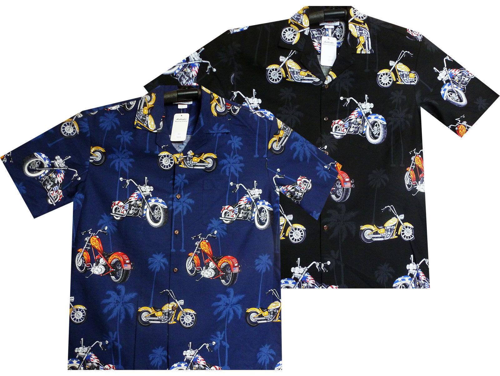 PLA ORIGINALE Camicia Hawaii, bikes all-over, Multi, s-4xl - disponibilità limitata -