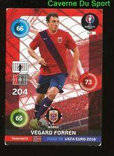 129 VEGARD FORREN NORWAY CARTE CARD ADRENALYN ROAD TO UEFA EURO 2016 PANINI T