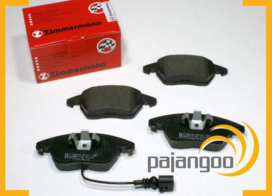 Skoda Superb 3T - Zimmermann Forros de Freno Pastillas Cable Advertencia Delant.