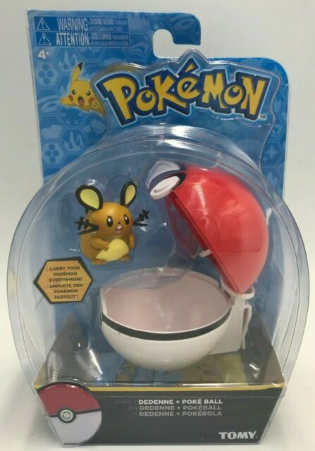 POKEMON DEDENNE + Poke Ball Tomy Clip and Carry Action Figure Toy