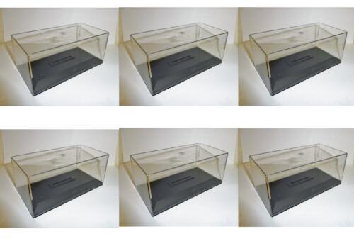 Lot 6 Boites Vide//Plexi avec socle pour Miniatures 1//43 Hauteur 6 cm Neuf !