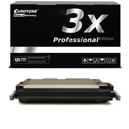3x Eurotone PRO Toner BLACK ersetzt HP Q6460A 644A