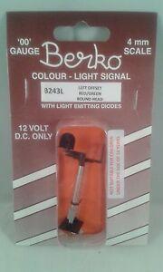 2 light signal red/green standard left offset round head Berko B243L