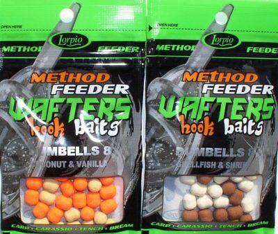 Hookbaits Method Feeder 8 x 10 mm Wafters Boilie Method Pop Up Dumbells