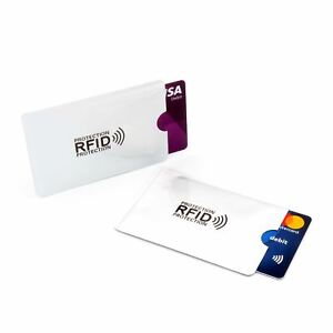5 x Contactless Debit Credit Card Protector Sleeve Blocking Device Wallet RFID