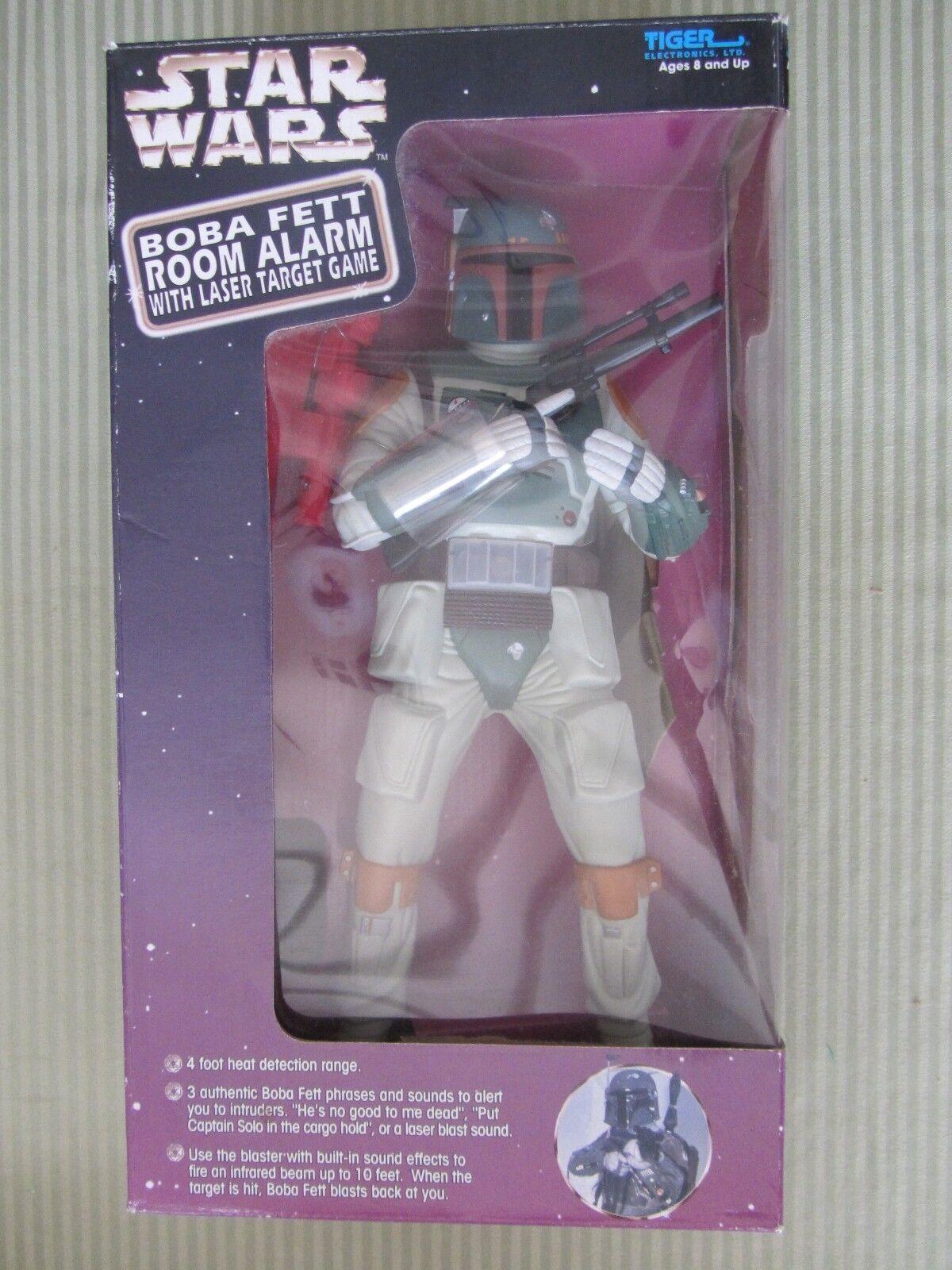 Star Wars Boba Fett Room Alarm w  Laser  Target Game nouveau in box - Tiger 1998  obtenir la dernière