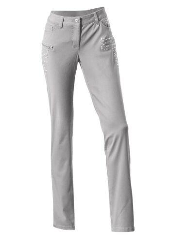 Jeans KP 59,90 € Schmucksteine.NEU!! Carry Allen by Heine Silbergrau