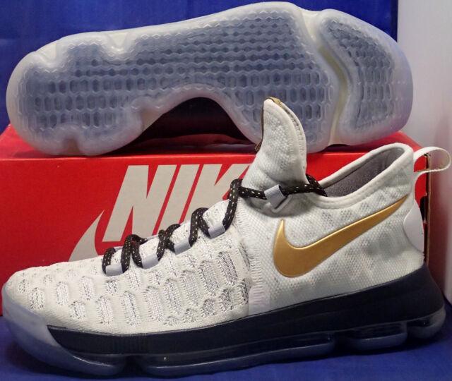 021c75b6cf5 Nike KD 9 IX iD White Navy Blue Gold Olympic Kevin Durant SZ 9.5 ( 863695