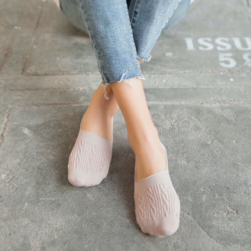 5 Pairs Women/'s Invisible No Show Nonslip Loafer Boat Ankle Low Cut Cotton Socks