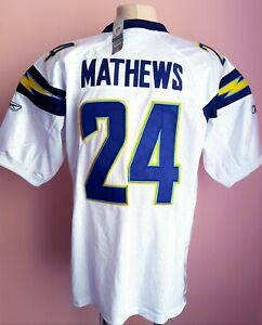 NFL San Diego Chargers Football Reebok Jersey #24 Ryan Mathews | eBay